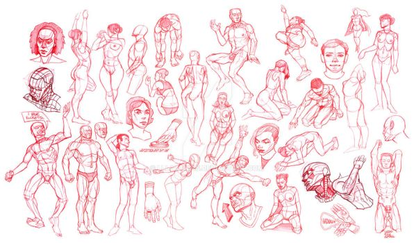 Imaginative Figure Sketches by lllatthias