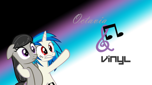 Octavia and Vinyl (Wallpaper) by StarCrystal272