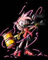 Amy Rose glow by SHADOWPRIME