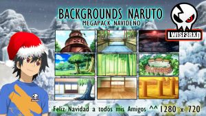 Megapack Navidenio Backgrounds Naruto 2014 by lwisf3rxd
