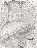 Alice in the Garden by Lorelei2323