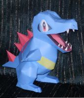 Totodile Papercraft by Skeleman