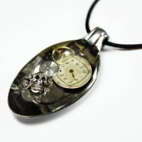 Resin PIRATE OF STEAMPUNK Spoon Pendant by Create-A-Pendant