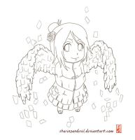 chibi konan lineart by sharingandevil