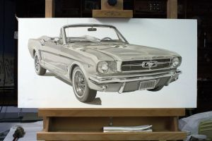 1965 Ford Mustang WIP 7 by Daniel-Storm