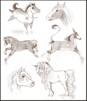 - Pencil Sketches - by JuriiChan