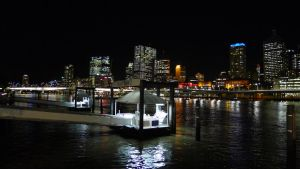 Brisbane - South Bank - Waiting for my taxi boat by livenover