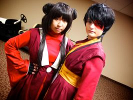 Mai and Zuko - Avatar: The Last Airbender Cosplay by GrumpyCosplay