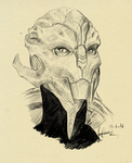 Female Turian by MeowSaysI