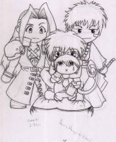 Chibi Sephy, Ichigo, and L by onewingedjrocker