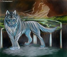 Frost tiger wolf by GrlwhoKnowSummat