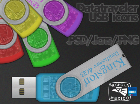 DataTraveler USB icons by 1fino0