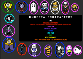 UNDERTALE: The Best Characters by RealDealKyogre
