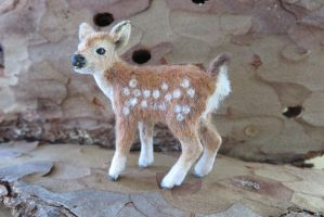 ooak1:12 miniature baby deer redress by squizzy7o7