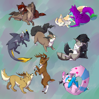 Simple Chibi commission batch 1 by VengefulSpirits