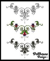 Three Filigree Tattoos by dollhouse65