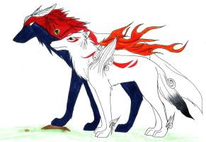 Oki and Ammy by WolfGoth