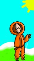 My failed sketch of kenny McCormick by spadecreeper