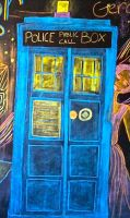 TARDIS Chalk Drawng by lam8507