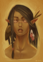 Wood Elf Portrait by Valkymie