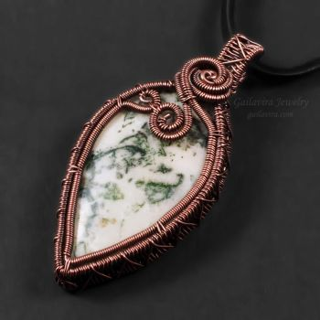 Copper and Tree Agate Pendant by Gailavira