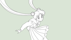 SAILOR MOON CLASSIC - Usagi Tsukino (B/W) by JackoWcastillo