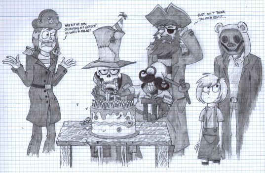 Skintakers Birthday (for ViolinBoy and Tsuinsuran) by zimvader42