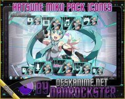 Hatsune Miku Pack Icons by Danrockster