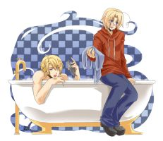 APH - Bath Time by mikokume-raie