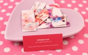 Peppermint Puff Business Cards by PeppermintPuff