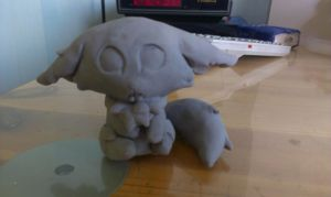 Gnar sculpture WIP by AP-kun