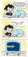 Dan discovers Nyan Cat by TeslaMarcia