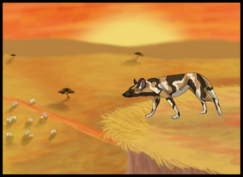 African Wild Dog Hunt by Kenisya