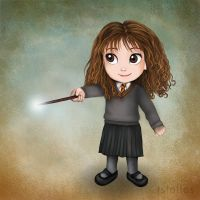 Chibi Hermione by tstelles
