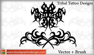 Tribal Tattoo Designs Brushes by Stockgraphicdesigns