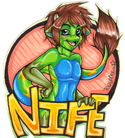 Nife Badge by Roum
