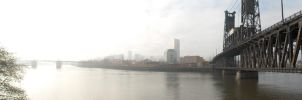Portland Waterfront Panorama by eltormento