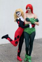 Harley Quinn and Poison Ivy Cosplay - Batman TAS by SailorMappy