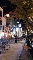 Osaka Street in Night by TanyaPark0216