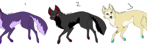 Wolf Adopts (1/3 Open) by AvalaAdopts