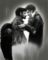 Destiel by aldertree