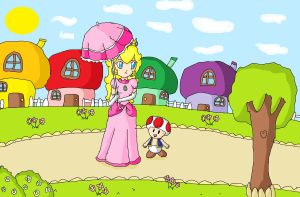 lovely ride in toad town by ninpeachlover
