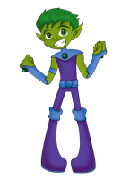 Starfire The Tamaranean Beast Boy by BeastGreen