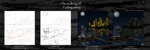 The Making Of Fading Away by Painted-Shadow