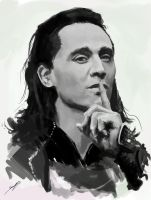 Loki Sketch by ScoffsArt
