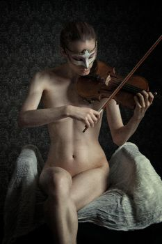 Girl with Violin by Suitcasefotografie