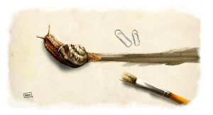 Snail painting by fablau