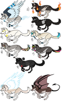 100 Themes Pt 2 Adoptables CLOSED by Cali-Adopts