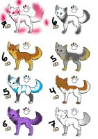 Canine adoptables by Dominoluv