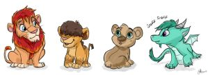 Lions, bears and dragon friends by Juffs